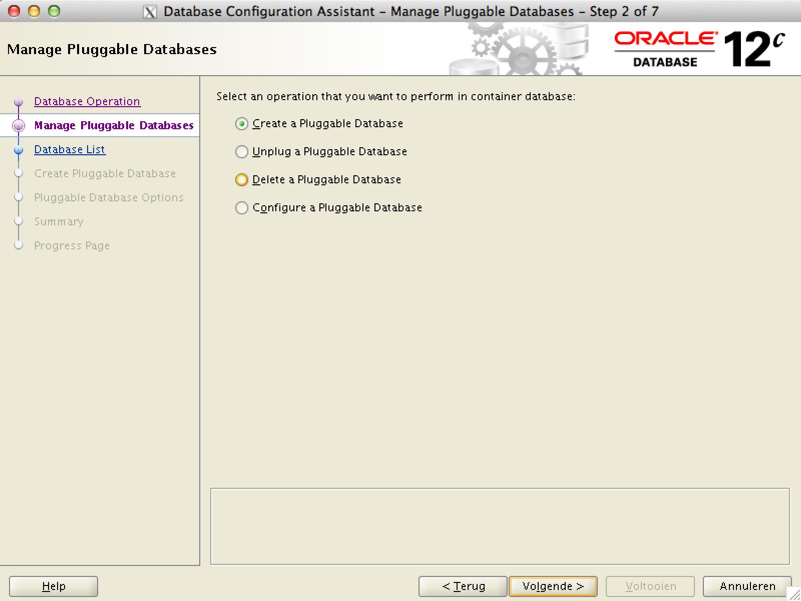 Create multitenant PDB Oracle Database 12c