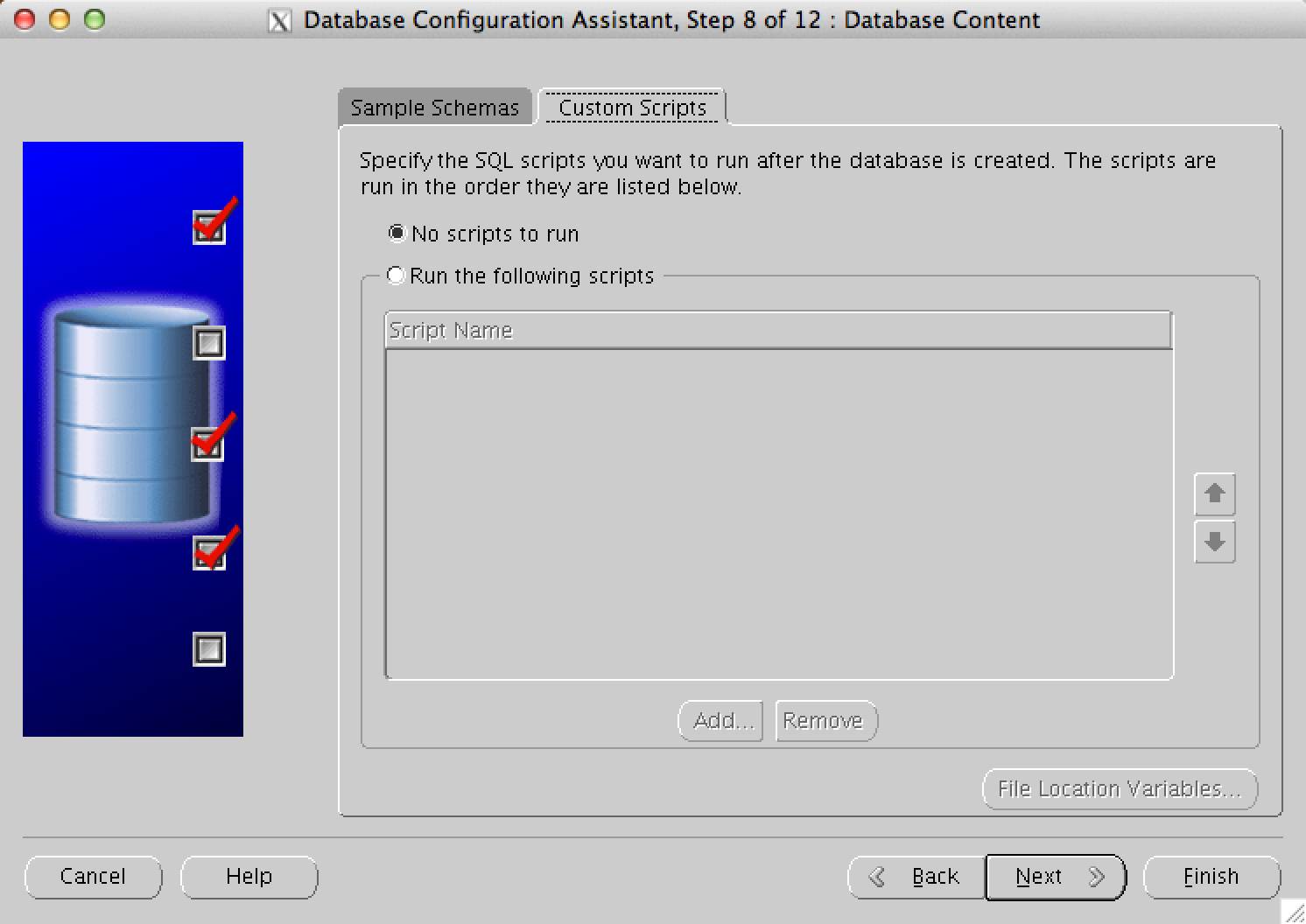Create Oracle Database 11.2.0.3 Database Configuration Assistant (DBCA)