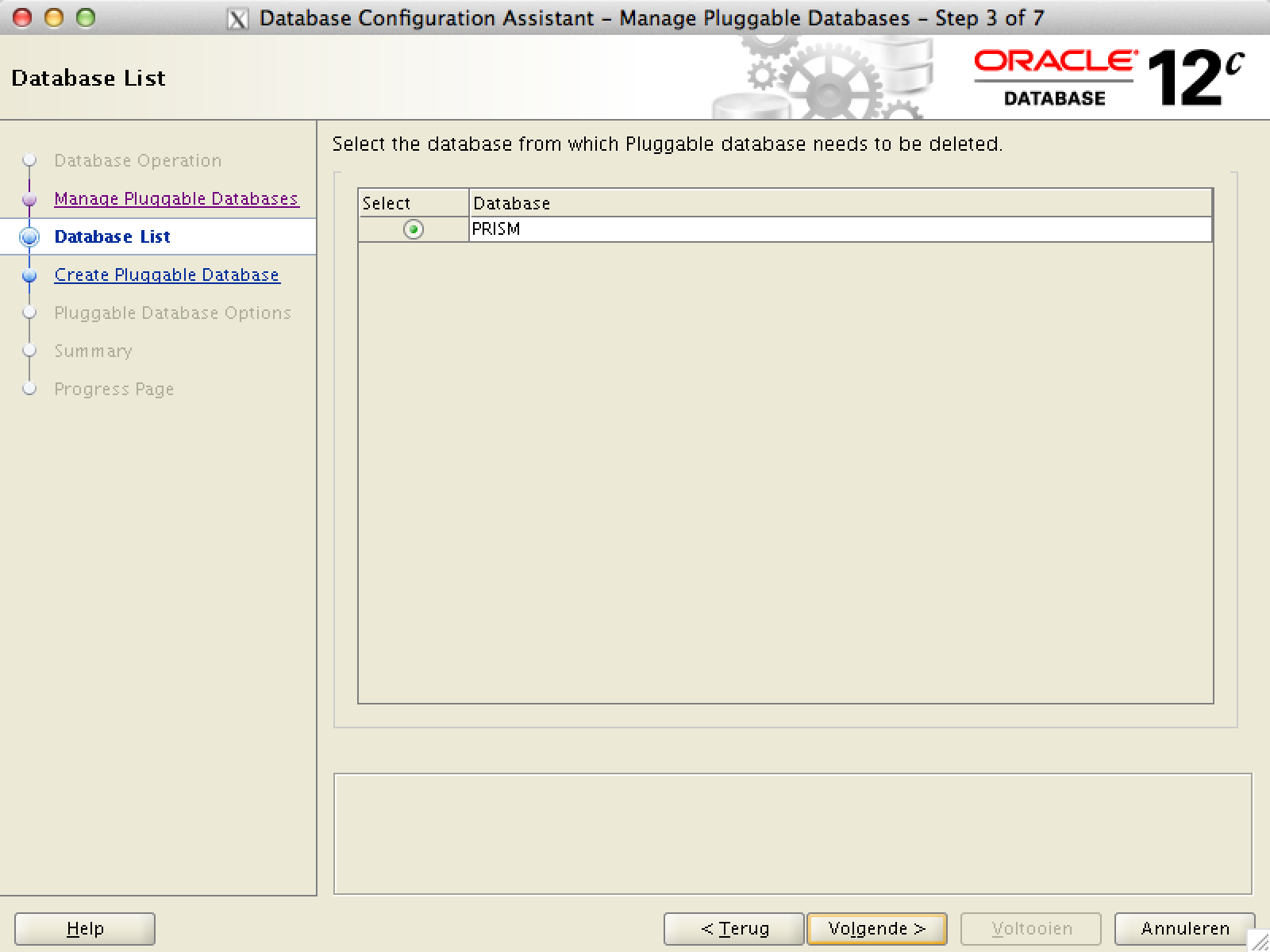 delete multitenant PDB Oracle Database 12c
