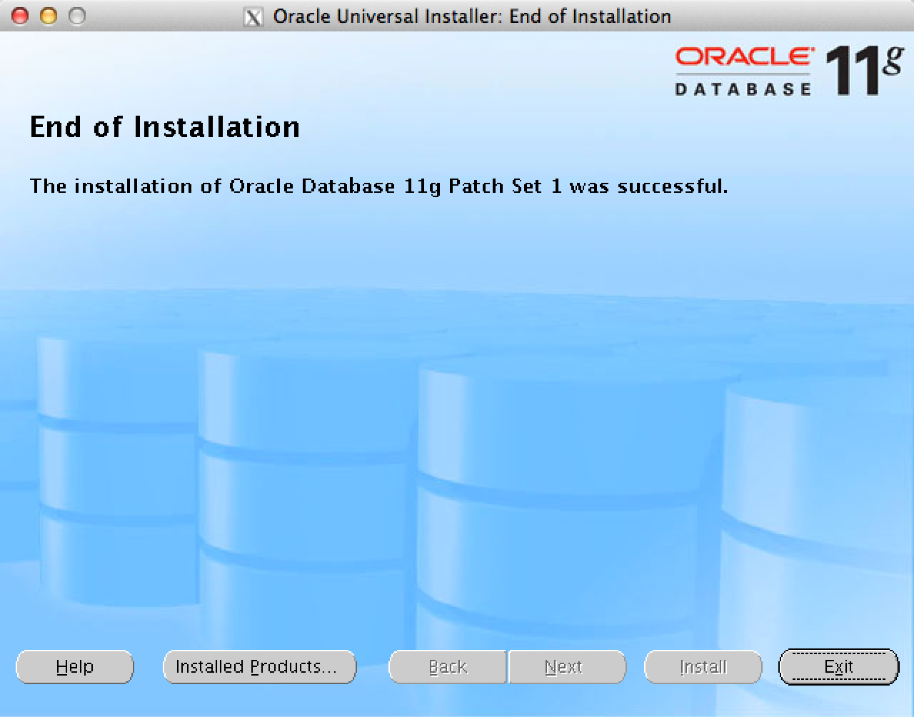 Installation Oracle Database 11.1.0.7
