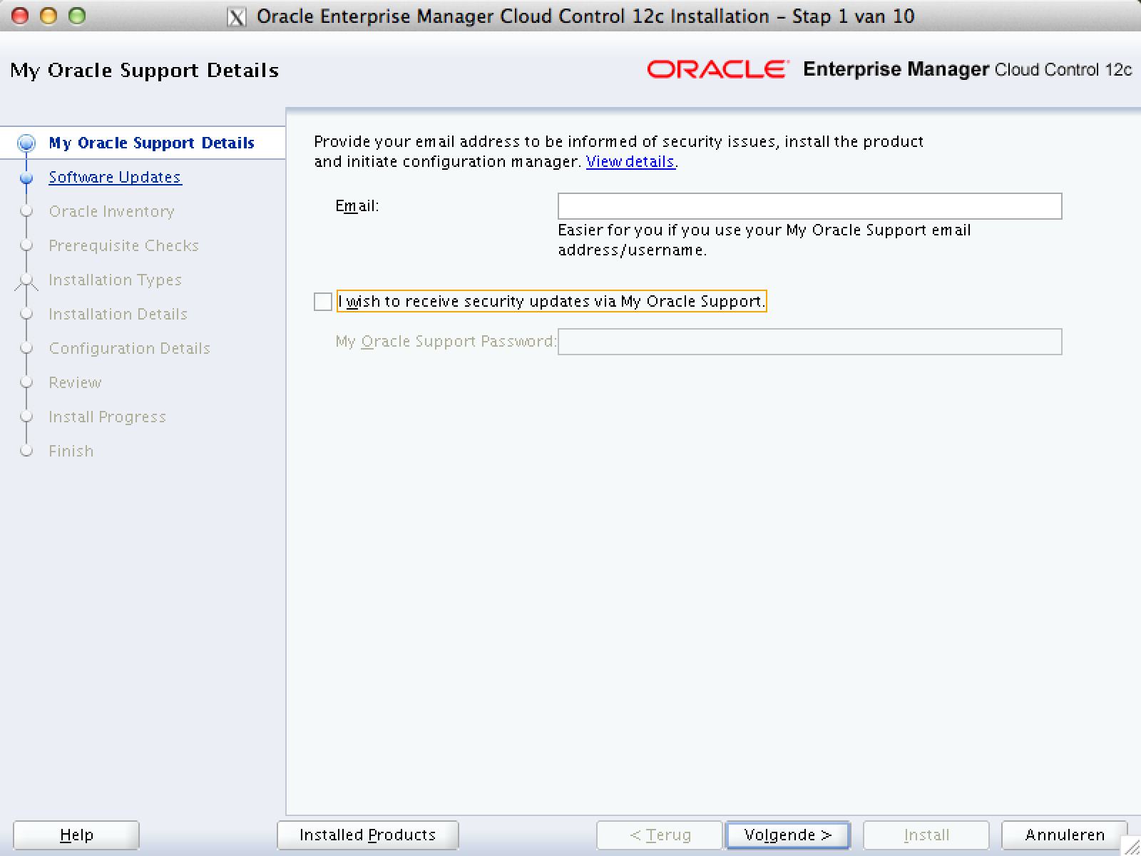 Installation Enterprise Manager Cloud Control 12c Release 3 12.1.0.3